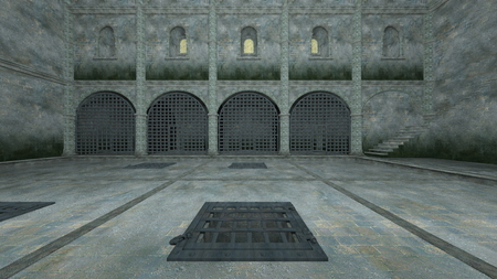 3D CG rendering of Prison Banque d'images - 119371633