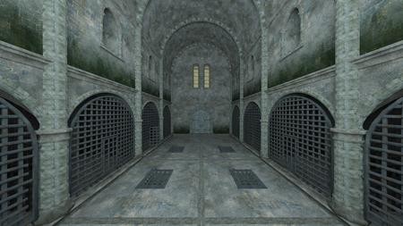 3D CG rendering of Prison Banque d'images - 119371502