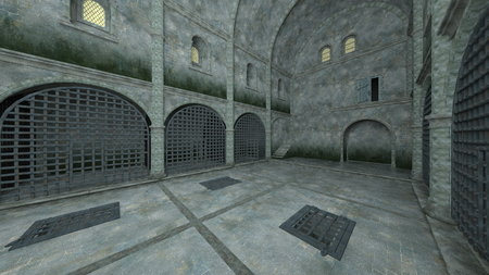 3D CG rendering of Prison Banque d'images - 119371505