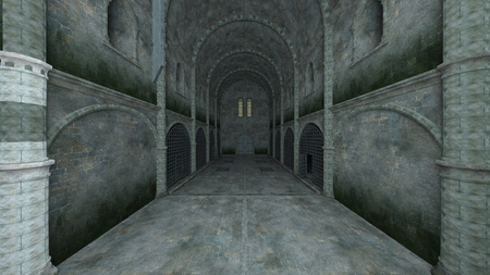 3D CG rendering of Prison Banque d'images - 119371426