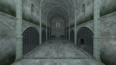 3D CG rendering of Prison Banque d'images - 119370885