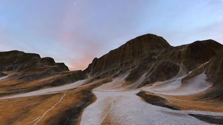 3D CG rendering of wilderness 스톡 콘텐츠
