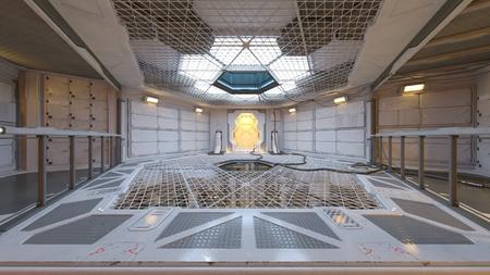 3D CG rendering of modern indoor Imagens