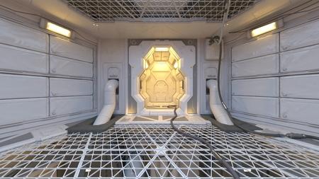3D CG rendering of modern indoor 写真素材