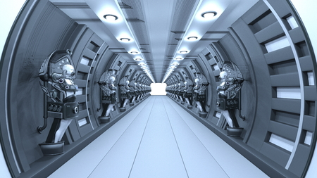 3D CG rendering of space station