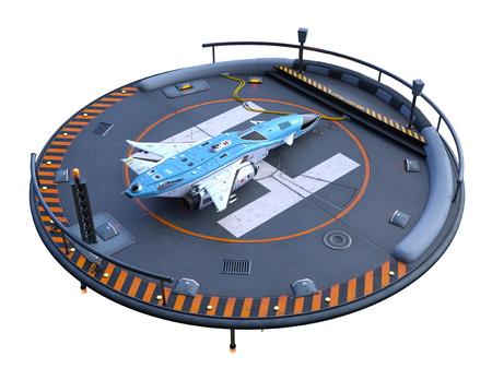 3D CG rendering of helipad
