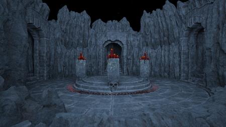 3D CG rendering of ancient ruins Banco de Imagens