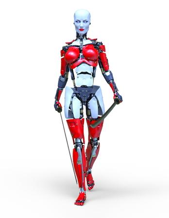 3D CG rendering of robot 写真素材 - 120351481