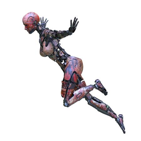 3D CG rendering of Humanoid robot