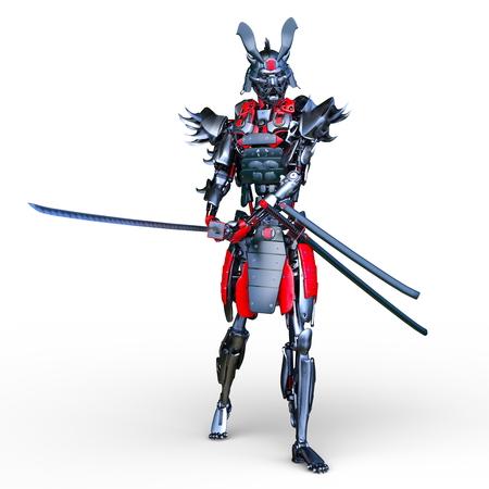3D CG rendering of samurai robot 写真素材 - 120544054