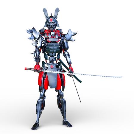 3D CG rendering of samurai robot