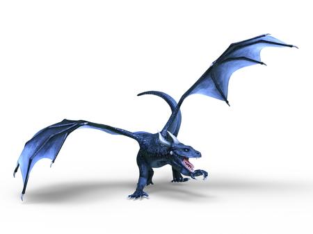 3D CG rendering of Flying Dragon 写真素材 - 120629249