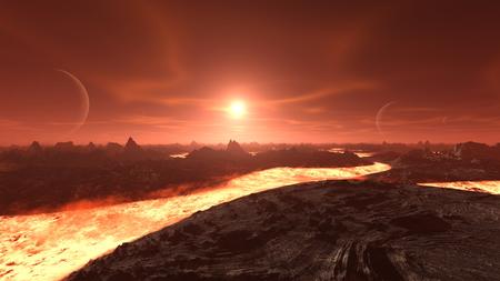 3D CG rendering of magma
