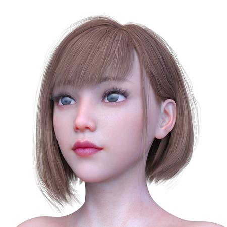 3D CG rendering of Woman's face