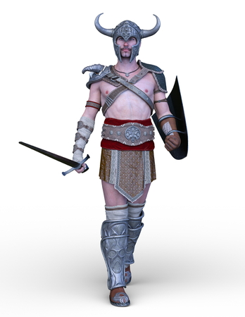 3D CG rendering of Gladiator 写真素材