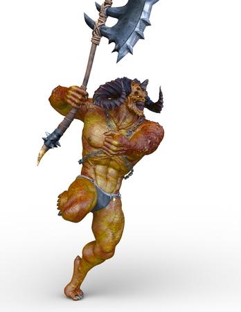 3D CG rendering of monster Stockfoto