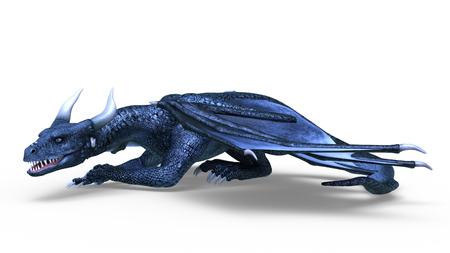 3D CG rendering of Flying Dragon Stok Fotoğraf