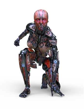 3D CG rendering of robot 写真素材 - 121779265