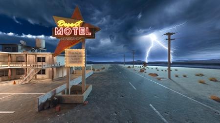 3D CG rendering of Motel