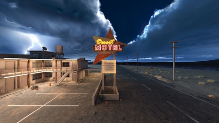3D CG rendering of Motel