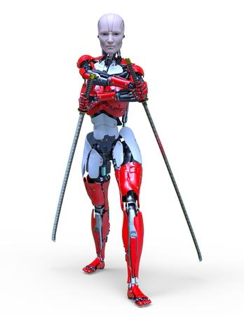 3D CG rendering of robot 写真素材 - 121941047