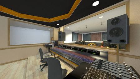 3D CG rendering of Recording studio