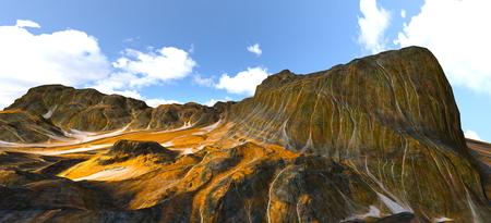 3D CG rendering of valley