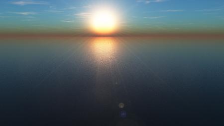 3D CG rendering of sunrise