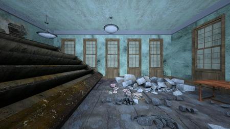 3D CG rendering of Horror House