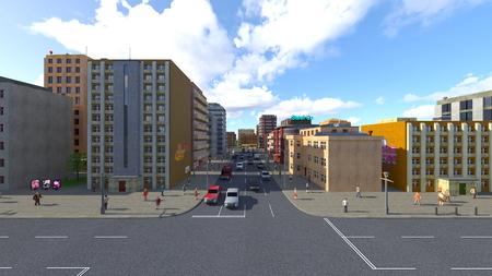 3D CG rendering of cityscape Stockfoto - 122253311