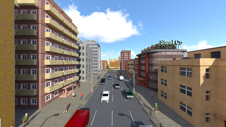 3D CG rendering of cityscape Stockfoto - 122253491