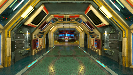 3D CG rendering of technology space