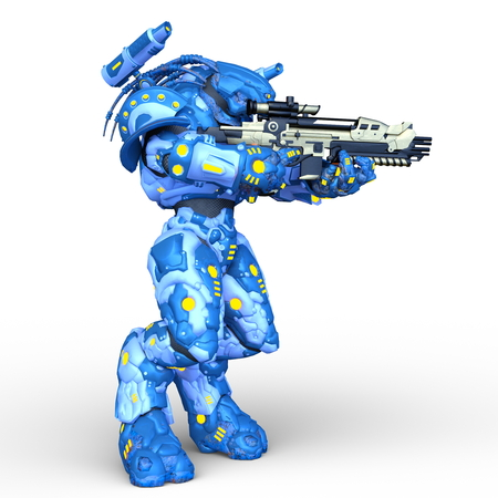 3D CG rendering of robot 写真素材 - 122505577
