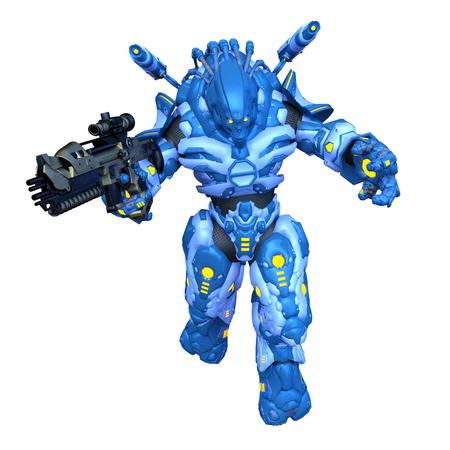 3D CG rendering of robot 写真素材 - 122505583
