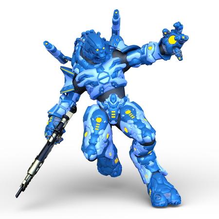 3D CG rendering of robot