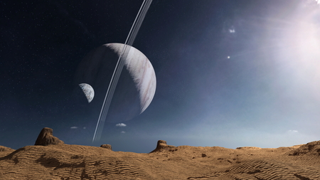 3D CG rendering of wilderness. Elements of this Image Furnished By NASA. Reklamní fotografie