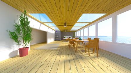3D CG rendering of residence Stockfoto