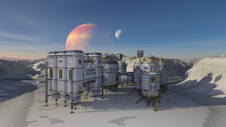 3D + CG + rendering + of + Space + Spacecraft. + Elements + of + this + Image + Furnished + By + NASA.