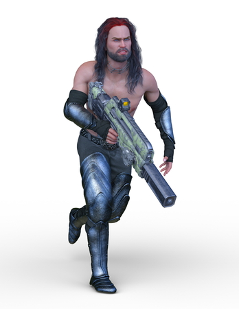 3D CG rendering of strong man