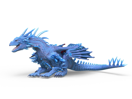 3D CG rendering of Flying Dragon 版權商用圖片