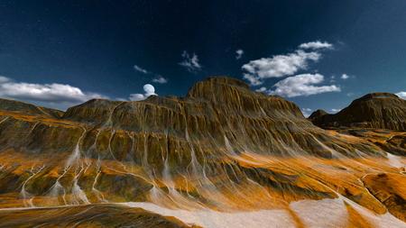 3D CG rendering of wilderness. 写真素材