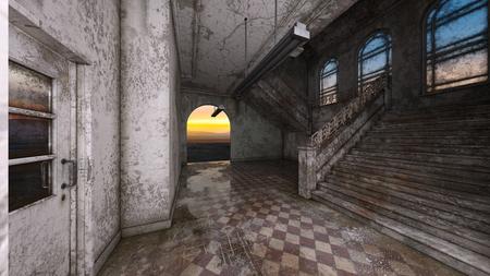 3D CG rendering of ruins Banque d'images - 123138427