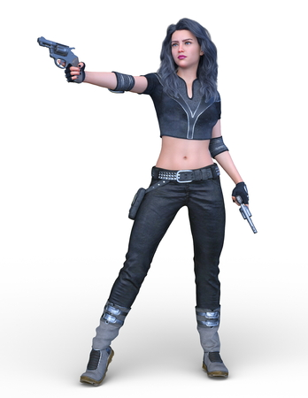 3D CG rendering of heroine Reklamní fotografie