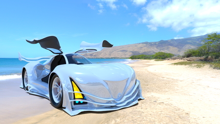 3D CG rendering of Sports Car