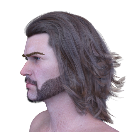 3D CG rendering of Mans face