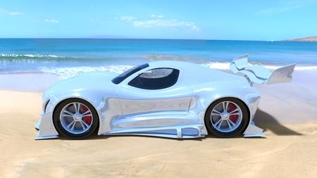 3D CG rendering of Sports Car
