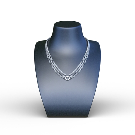 3D CG rendering of Necklace