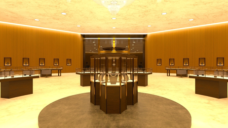 3D CG rendering of Jewelry store