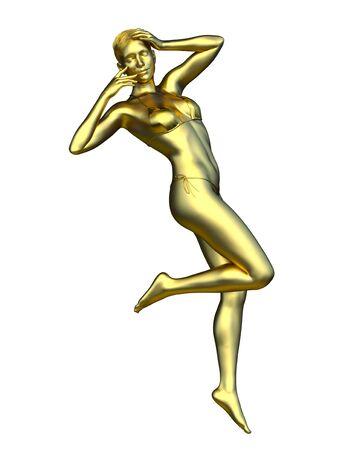 3D CG rendering of woman statue