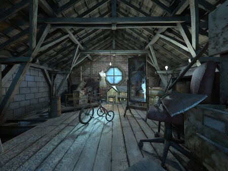 3D CG rendering of cabin